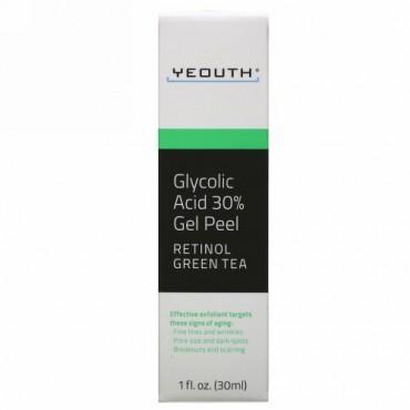 Yeouth, グリコール酸30%ジェルピール、30ml(1液量オンス)
