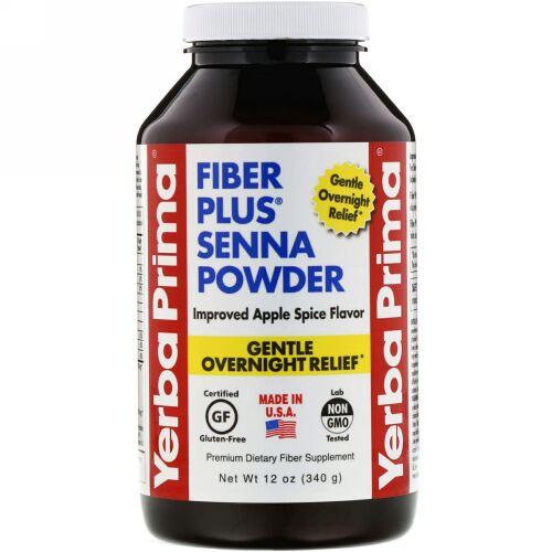 Yerba Prima, Fiber Plus Senna Powder, Apple Spice Flavor, 12 oz (340 g) (Discontinued Item)