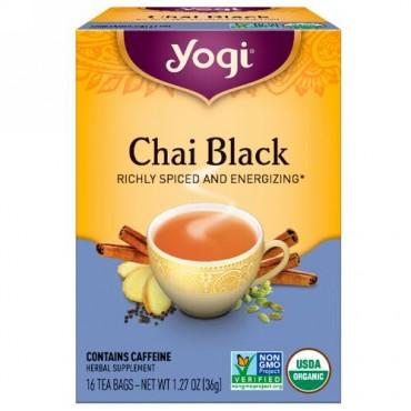 Yogi Tea, チャイブラック(Chai Black), カフェイン含有, 16ティーバッグ, 1.27オンス(36 g) (Discontinued Item)