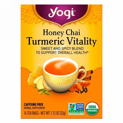 Yogi Tea, Honey Chai, Turmeric Vitality, 16 Tea Bags,  1.12 oz (32 g)