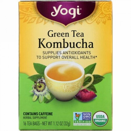 Yogi Tea, オーガニック、緑茶コンブ茶、ティーバッグ16袋、32g(1.12oz)