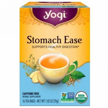 Yogi Tea, ストマックイーズ(Stomach Ease), カフェインフリー, 16ティーバッグ, 1.02oz (29 g)
