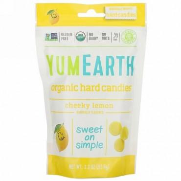 YumEarth, オーガニックハードキャンディー、チーキーレモン、3.3オンス(93.6 g)