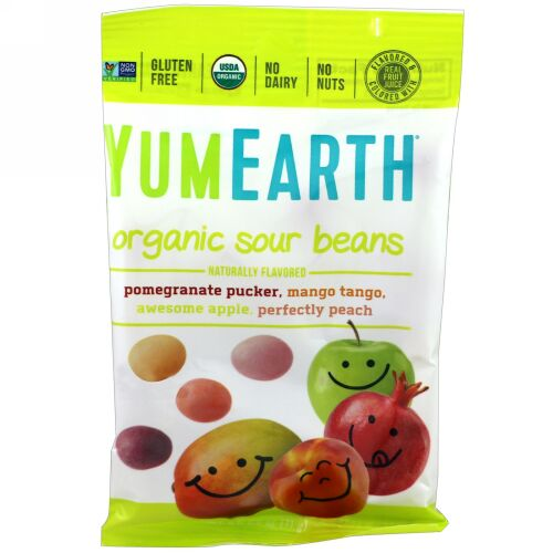 YumEarth, オーガニック サワー ビーンズ、12パック、各2.5 oz (71 g) (Discontinued Item)