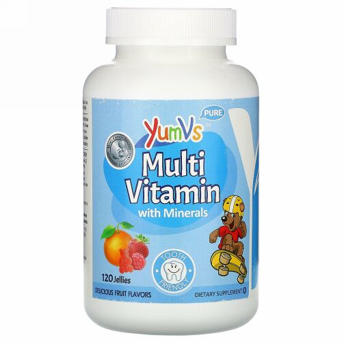YumV's, Multi Vitamin with Minerals, Delicious Fruit Flavors, 120 Jellies