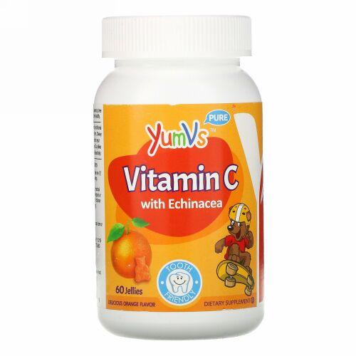 YumV's, Vitamin C with Echinacea, Delicious Orange Flavor, 60 Jelly Bears