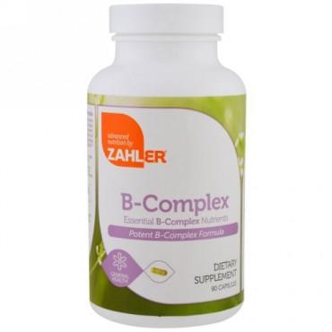 Zahler, B複合体、必須B複合体栄養素、90カプセル (Discontinued Item)