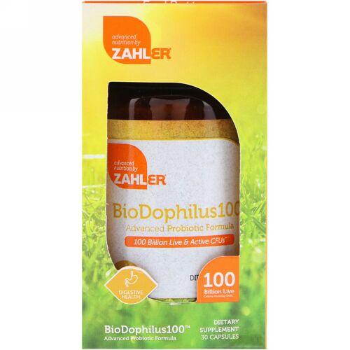 Zahler, Biodophilus100, Advanced Probiotic Formula, 30 Capsules (Discontinued Item)