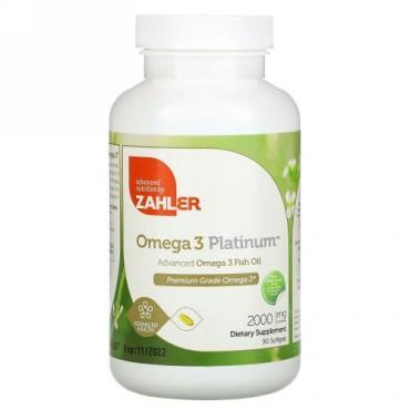 Zahler, Omega 3 Platinum, Advanced Omega 3 Fish Oil, 2,000 mg, 90 Softgels