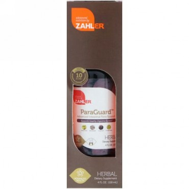 Zahler, パラガード、高度な腸内細菌叢サポート、4液体オンス(118 ml) (Discontinued Item)
