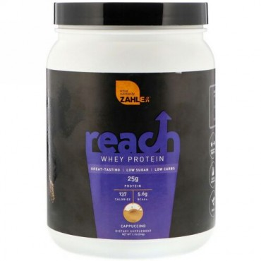 Zahler, Reach, Whey Protein, Cappuccino, 1.1 lb (514 g) (Discontinued Item)