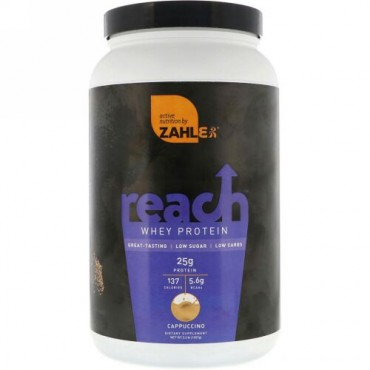 Zahler, Reach, Whey Protein, Cappuccino, 2.3 lb (1027 g) (Discontinued Item)