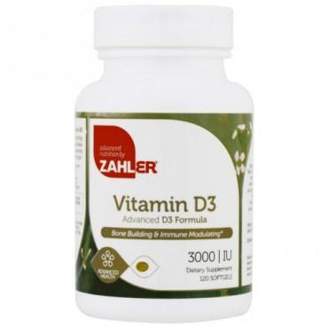 Zahler, Vitamin D3, Advanced D3 Formula, 3,000 IU, 120 Softgels (Discontinued Item)