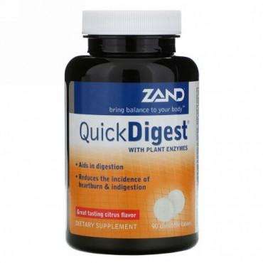 Zand, クイックダイジェスト(Quick Digest)、シトラス 味、 チュアブル 90 錠