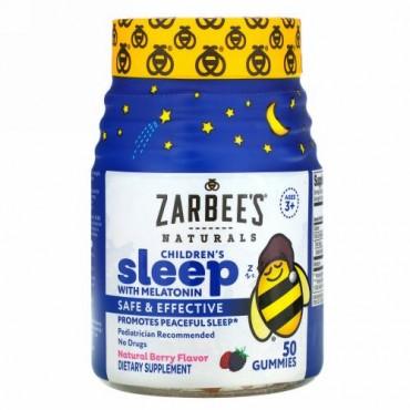 Zarbee's, メラトニン配合子ども用睡眠サプリメント、天然ベリー味、3歳以上、グミ50粒