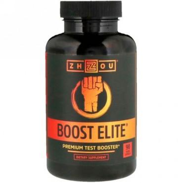 Zhou Nutrition, ブーストエリート、高品質テスタステロン促進剤、植物性カプセル90粒 (Discontinued Item)