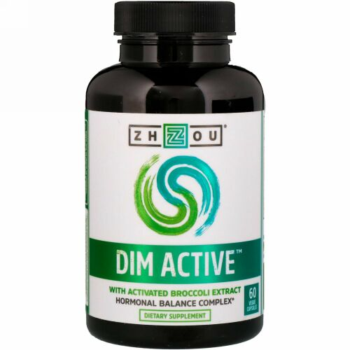 Zhou Nutrition, DIMアクティブ,ホルモンバランスコンプレックス,植物性カプセル60粒