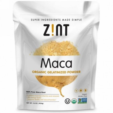 Zint, マカ、オーガニックゼラチンパウダー、16オンス (454 g)