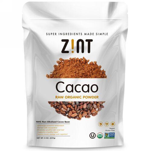 Zint, Cacao Raw Organic Powder, 8 oz (227 g)