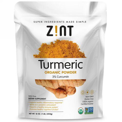 Zint, Turmeric Organic Powder, 16 oz (454 g)