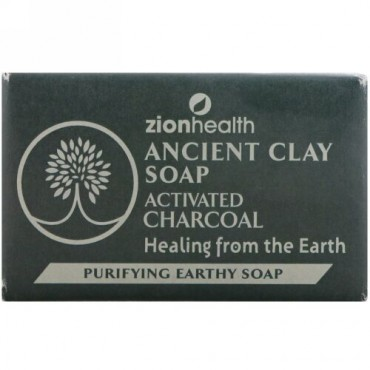 Zion Health, 古代クレイソープ、ピュリファイングアーシーソープ、活性炭、6 oz (170 g) (Discontinued Item)
