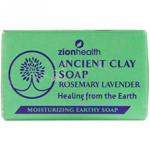 Zion Health, Ancient Clay Soap, Rosemary Lavender, 6 oz (170 g) (Discontinued Item)