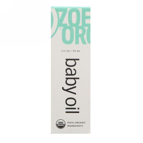 Zoe Organics, オーガニックベビーオイル, 2液体オンス(60 ml) (Discontinued Item)