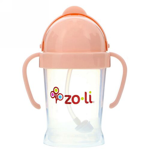 Zoli, ボット、ストローマグ、ブラッシュピンク、6オンス (Discontinued Item)