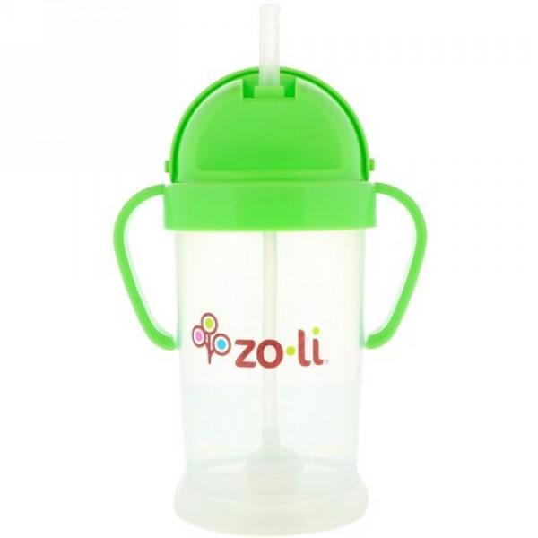 Zoli, ボットXL、ストローシッピーカップ、グリーン、9 oz (Discontinued Item)