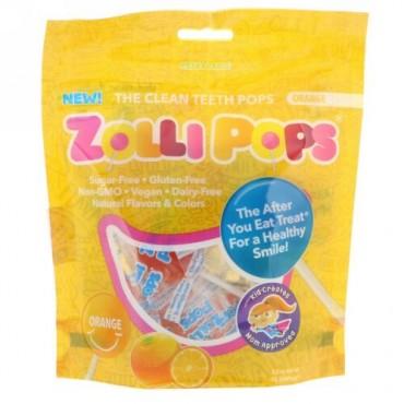 Zollipops, クリーンティースポップス、オレンジ、ZolliPops15個、3.1オンス (Discontinued Item)
