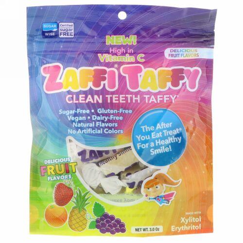 Zollipops, Zaffiタフィー、クリーンティースタフィー、美味しいフルーツフレーバー、3.0オンス