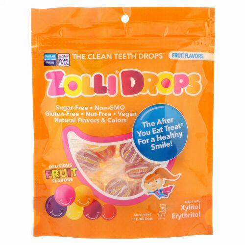 Zollipops, ゾリドロップス、クリーンティースドロップス、フルーツ味、15個以上のゾリドロップス、1.6 oz