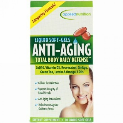 appliednutrition, Anti Aging Total Body Daily Defense, 50 Liquid Soft-Gels (Discontinued Item)