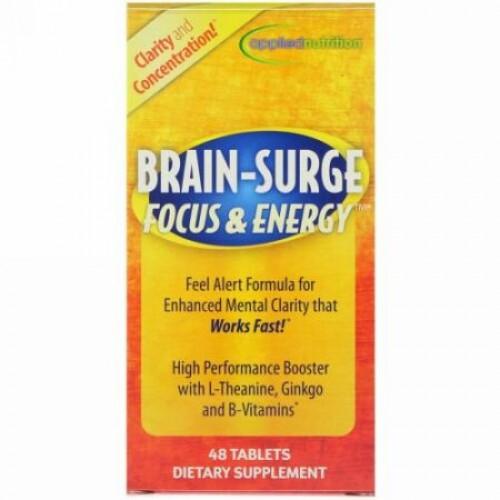 appliednutrition, 脳 - 集中力 & エネルギー増大、48錠 (Discontinued Item)