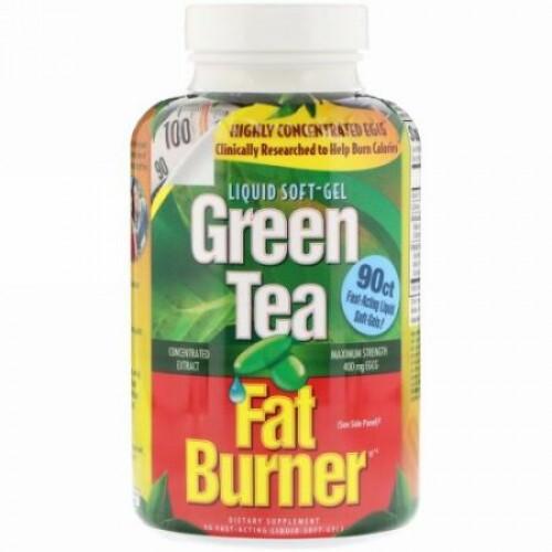appliednutrition, 緑茶脂肪バーナー、90即効液体ソフトジェル