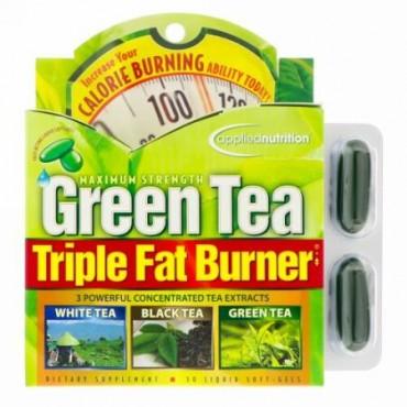 appliednutrition, 緑茶 Triple Fat Burner、30液体ソフトジェル