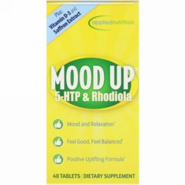 appliednutrition, Mood Up、5-HTPとロディオラ、48錠 (Discontinued Item)