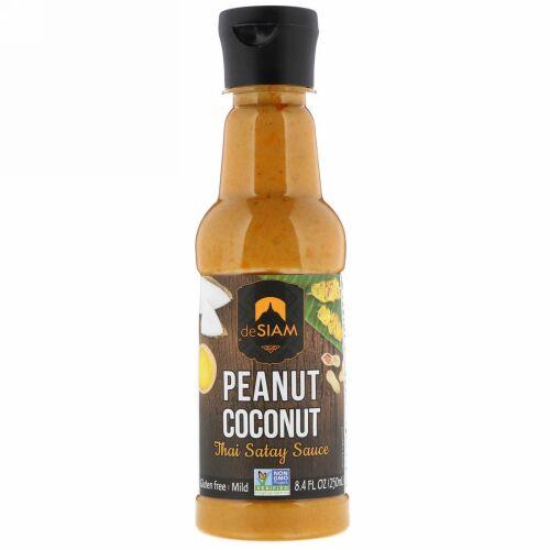 deSIAM, Thai Satay Sauce, Peanut & Coconut, Mild, 8.4 fl oz (250 ml) (Discontinued Item)