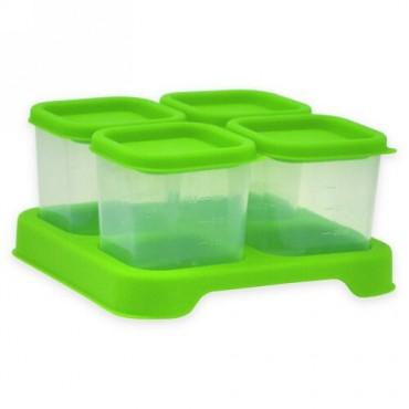 i play Inc., グリーンスプラウツ、フレッシュ・ベビーフード、グラスキューブ、グリーン、4パック、各4オンス (118 ml) (Discontinued Item)